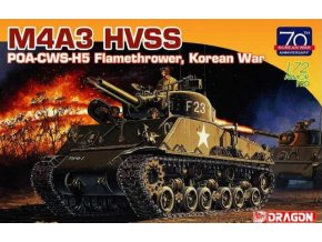 Dragon - M4A3 HVSS POA-CWS-H5 Flamethrower, Korean War (70th Anniversary), Model Kit tank 7524, 1/72