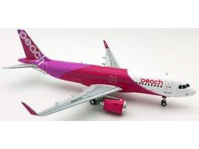 J Fox Models - Airbus A320-200, společnost Peach Aviation JA201P, Japonsko, 1/200