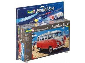 Revell - VW T1 Samba Bus, ModelSet 67399, 1/24