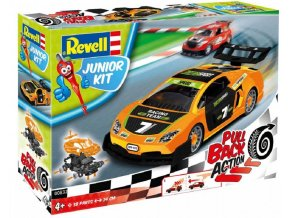 Revell - Pull Back Racing Car (oranžové), Junior Kit 00832, 1/20