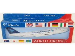 Wooster - Boeing B747-400, společnost Garuda, Indonésie, 1/250