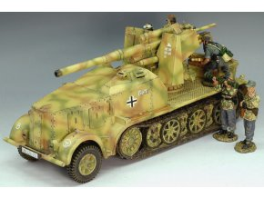 King & Country - 8.8 cm Flak 18 Selbstfahrlafette auf Zugkraftwagen 12t, Wehrmacht, 1/30