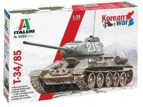 Italeri - T-34/85 Korean War, Model Kit 6585, 1/35