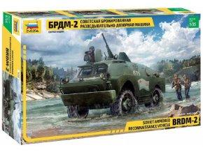 Zvezda - BRDM-2 Russian Armored Car, Model Kit military 3638, 1/35