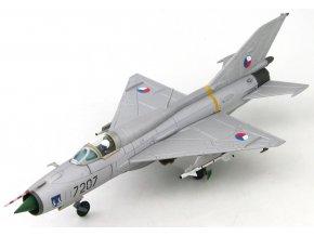 HobbyMaster - MiG-21PFM, československé letectvo, letiště Žatec, 1991, limitovaná edice, 1/72