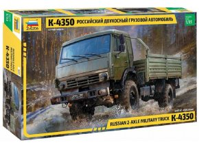 Zvezda - Russian 2 Axle Military Truck K-4326, Model Kit military 3692, 1/35