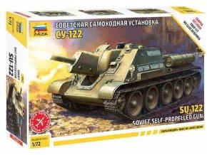 Zvezda - SU-122 Soviet Tank Destroyer, Model Kit 5043, 1/72