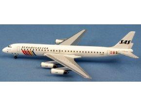 AeroClassic - Douglas DC-8-62, dopravce SAS Scandinavian Airlines LN-MOW, Švědsko, 1/400