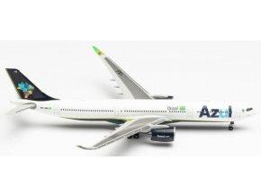 """Herpa - Airbus A330-941, společnost Azul Linhas Aéreas Brasileiras, Named """"O Mundo é Azul"""", Brazílie, 1/500"""