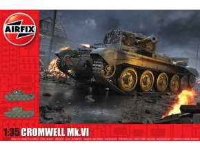 Airfix - Cruiser Mk.VIII A27M Cromwell Mk.VI, Classic Kit tank A1374, 1/35