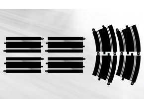 SCALEXTRIC - Track Extension Pack 7 - 4 X Straights & 4 X R4 Curves, Rozšíření trati SCALEXTRIC C8556,