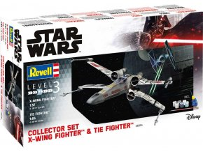 Revell - X-Wing Fighter (1/57) + TIE Fighter (1/65), Gift-Set SW 06054
