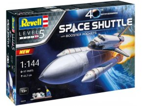 Revell - Space Shuttle & Booster Rockets - 40th Anniversary, Gift-Set vesmír 05674, 1/144