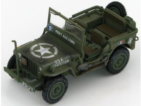 "HobbyMaster - Jeep Willys, 2nd French armored, ""MORT AUX CONS"", 1/48"