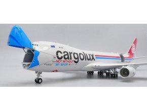 """JC Wings - Boeing B747-8F, dopravce Cargolux """"Not Without My Mask"""" LX-VCF, int.verze, Lucembursko, 1/200"""