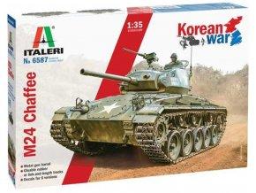 "Italeri - M24 ""Chaffee"" Korean War, Model Kit tank 6587, 1/35"