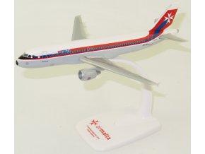 """Lupa - Airbus A320-214, společnost Air Malta """"Retro (1974)"""" 9H-AEI, Malta, 1/200"""