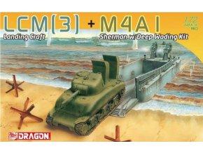 Dragon - LCM(3) + M4A1 Sherman w/Deep Wading Kit, Model Kit military 7516, 1/72