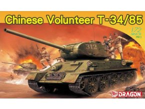 Dragon - Chinese Volunteer T-34/85, Model Kit 7668, 1/72