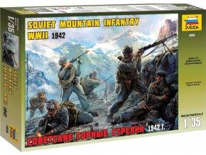 Zvezda - Sovětská horská jednotka WWII, Model Kit 3606, 1/35