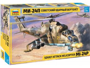 Zvezda - MIL Mi-24P Ruský útočný vrtulník, Model Kit 4812, 1/48