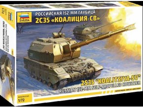 "Zvezda - 2S35 ""Koalitsya-SV"" Samohybná houfnice, Model Kit 5055, 1/72"