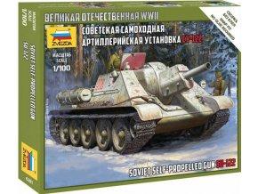 Zvezda -  Sovětský samohybný kanón SU-122, Wargames (WWII) tank 6281, 1/100