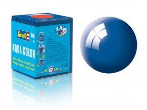 Revell - Barva akrylová 18 ml - č. 52 lesklá modrá (blue gloss), 36152
