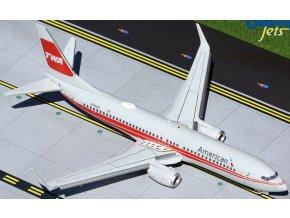 Gemini - Boeing B737-800 (klapky dolů), dopravce American Airlines, USA, 1/200