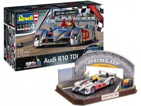 Revell - Audi R10 TDI + 3D Puzzle (LeMans Racetrack), Gift-Set diorama 05682, 1/24