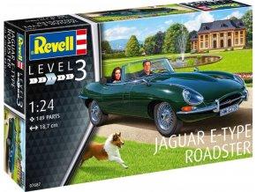 Revell - Jaguar E-Type Roadster, Plastic ModelKit 07687, 1/24
