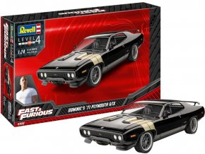 Revell - Fast & Furious - Dominics 1971 Plymouth GTX, Plastic ModelKit 07692, 1/24