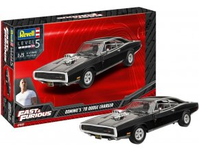 Revell -  Fast & Furious - Dominics 1970 Dodge Charger, Plastic ModelKit 07693, 1/25