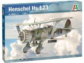 Italeri - Henschel Hs 123, Model Kit 2819, 1/48