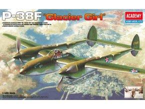 Academy - P-38F LIGHTNING GLACIER GIRL, Model Kit 12208, 1/48