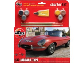 """Airfix -  Jaguar """"E"""" Type, Starter Set A55200, 1/32"""