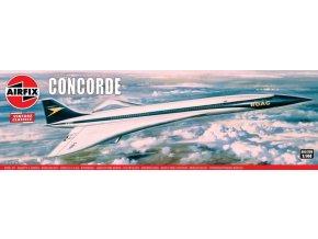 Airfix - Concorde Prototype (BOAC), Classic Kit VINTAGE A05170V, 1/144