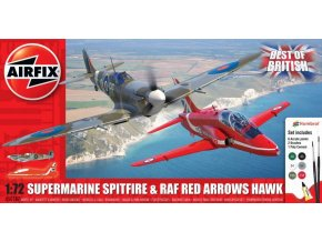 Airfix - Best of British Spitfire and Hawk, Gift Set A50187, 1/72