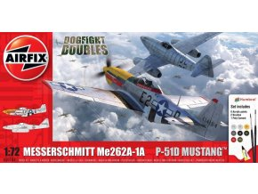 Airfix - Messerschmitt Me262 & P-51D Mustang Dogfight Double, Gift Set  A50183, 1/72