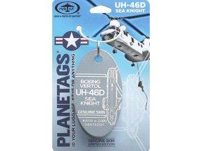 MotoArt Plane Tags - přívěsek ze skutečné helikoptéry, Boeing Vertol UH-46D Sea Knight