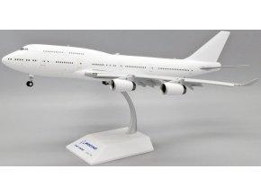 JC Wings - Boeing B747-400, klapky dolu, Blank - čistě bílé letadlo bez polepu, 1/200