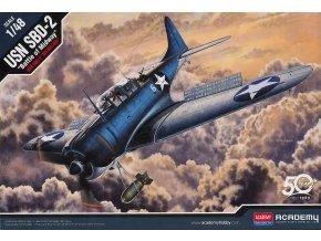 "Academy - Douglas SBD-2 Dauntless, US NAVY, ""Bitva u Midway"", Model Kit 12335, 1/48"