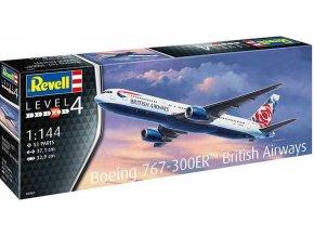 Revell - Boeing 767-300ER (British Airways Chelsea Rose), Plastic Modelkit 03862, 1/144