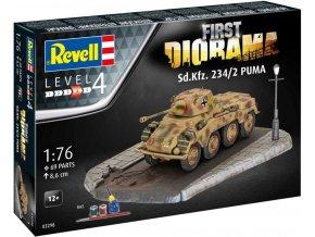 Revell - Sd. Kfz. 234/2 Puma, Gift-Set diorama 03298, 1/76