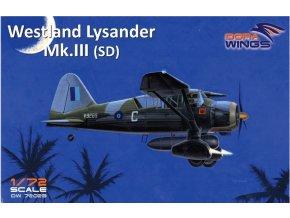 Dora Wings - Westland Lysander Mk.III, ModelSet DW72023, 1/72