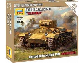 Zvezda - British Infantry Tank Valentine II, Wargames (WWII) 6280, 1/100