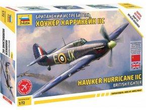 Zvezda - Hawker Hurricane Mk II C, Snap Kit letadlo 7322, 1/72