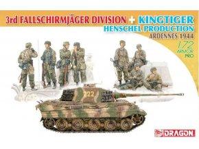 Dragon - 3rd Fallschirmjäger Division + Kingtiger Henschel Turret, Model Kit 7400, 1/72