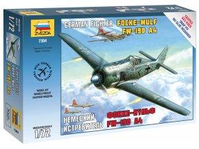 Zvezda - Focke-wulf Fw-190 A4, Luftwaffe, Snap Kit 7304, 1/72