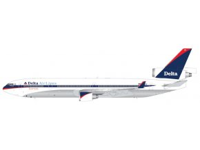 """Gemini - McDonnell Douglas MD-11F, dopravce Delta Air Lines, """"interim"""" livery; polished belly, USA, 1/200"""